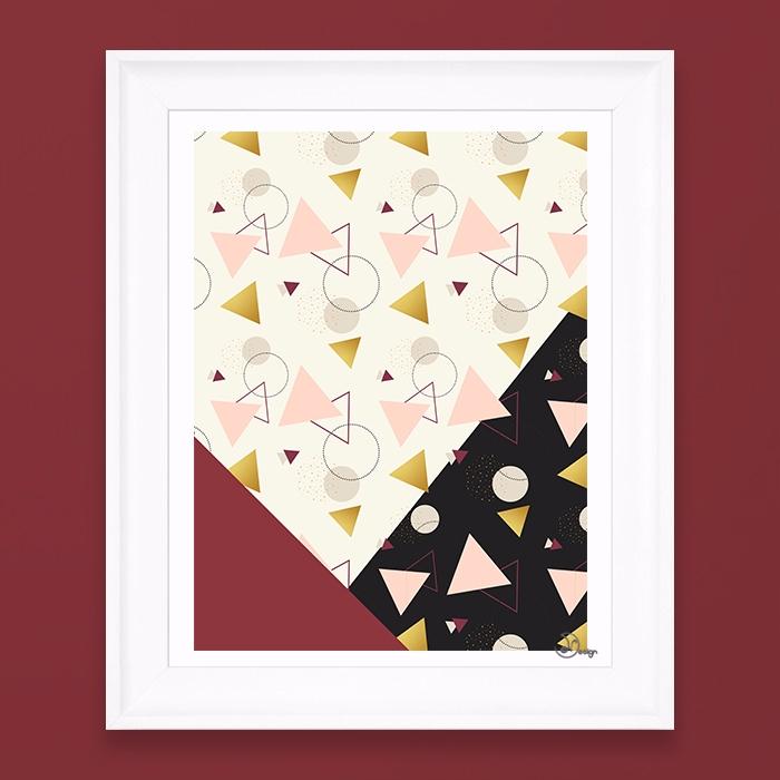 Triangles Mix Abstract geometri - designdn   ello
