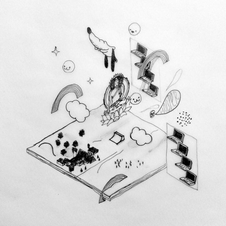 elloPencil marker paper. 21*21  - leezahooper | ello