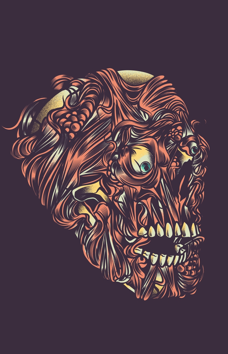 Gore - podridosarmy, gif, dark, illustration - manuelcetina | ello