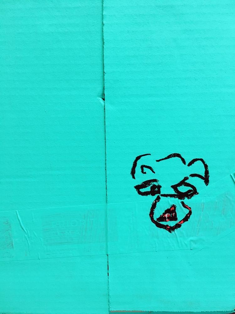 art, bear, blue, minimalism - jkalamarz | ello