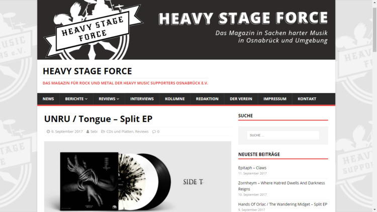 Heavy Stage Force review UNRU  - scrmetal | ello
