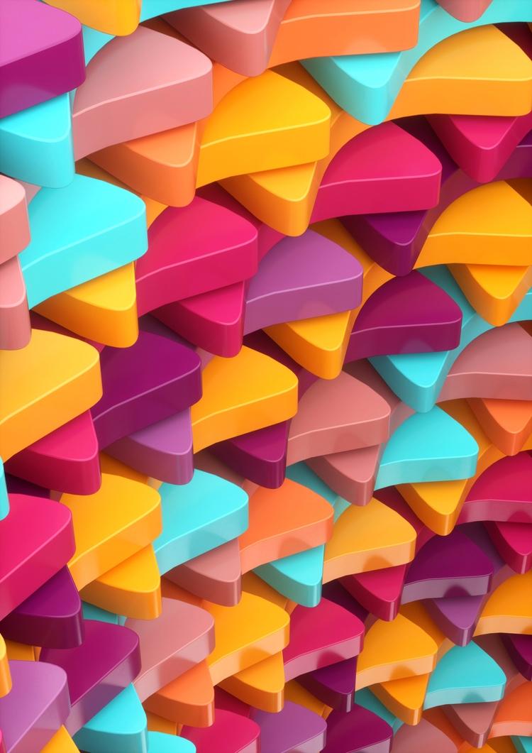 Colorful, 2017 + - c4d, 3d, digitalart - dannyivan | ello
