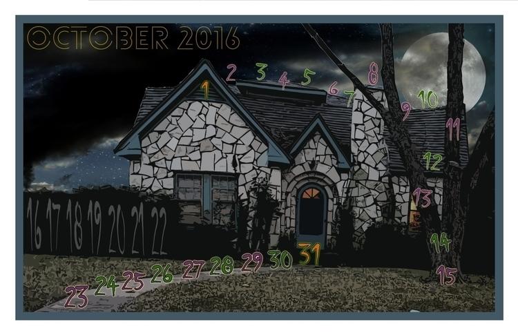 October, calendar - graphicdesign - dsbigham | ello