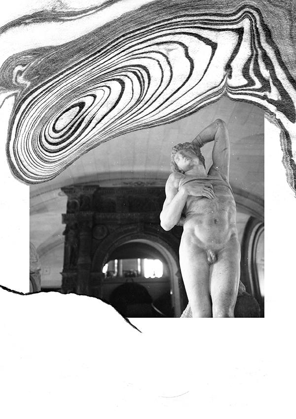 louvre, sculpture, paris, suminagashi - amnesiaberlin | ello