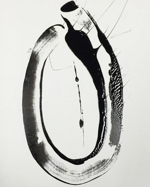 1  - monoprint, printmaking, christopherursini - xristopher | ello