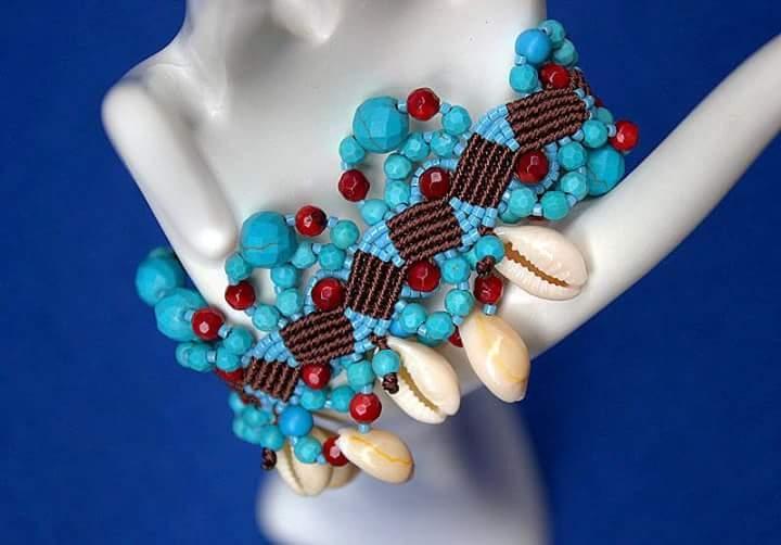 Turquoise shell love - birbyzossleptuve - macrame_birbyzossleptuve | ello