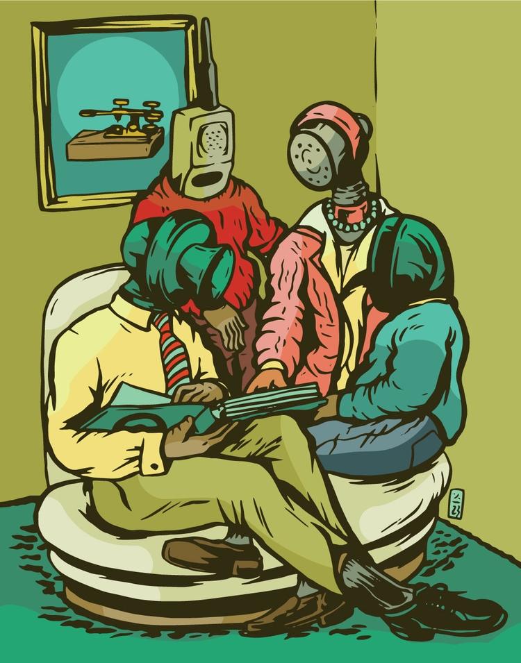 Communication - illustration - thomcat23 | ello