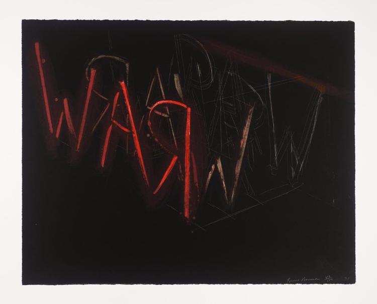 Raw-War, 1971 Bruce Nauman: con - valosalo   ello