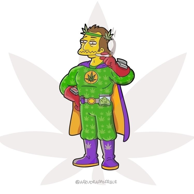 time . cannabis super hero - simpsonsfanart - chusmargallo | ello