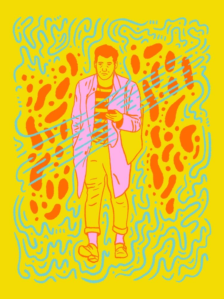 Post-work - illustration, illustrator - heybop | ello