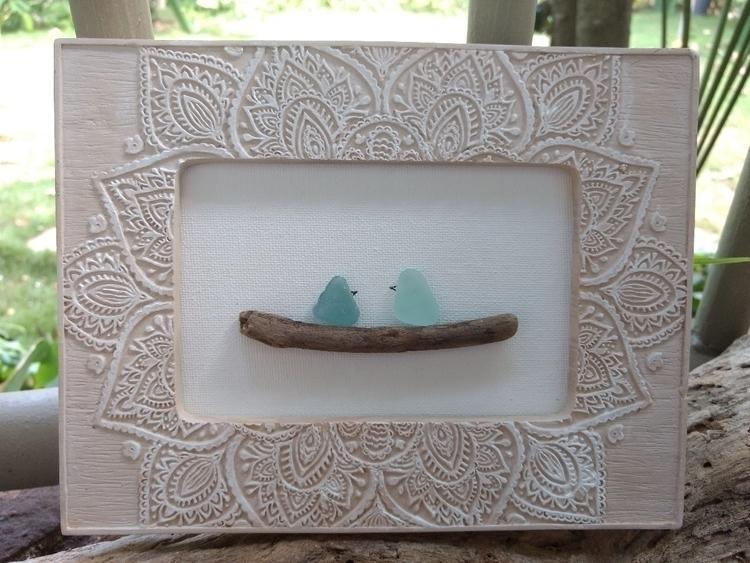 Hawaiian Sea Glass Love Birds p - flatterydesigns | ello