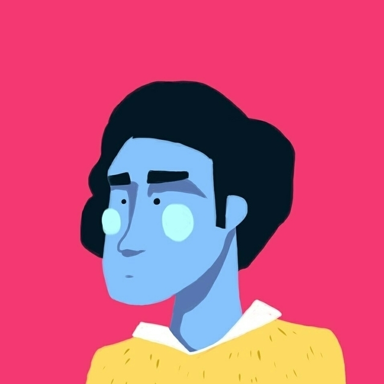 boy, pretty, pink, blue, illustration - royhl | ello
