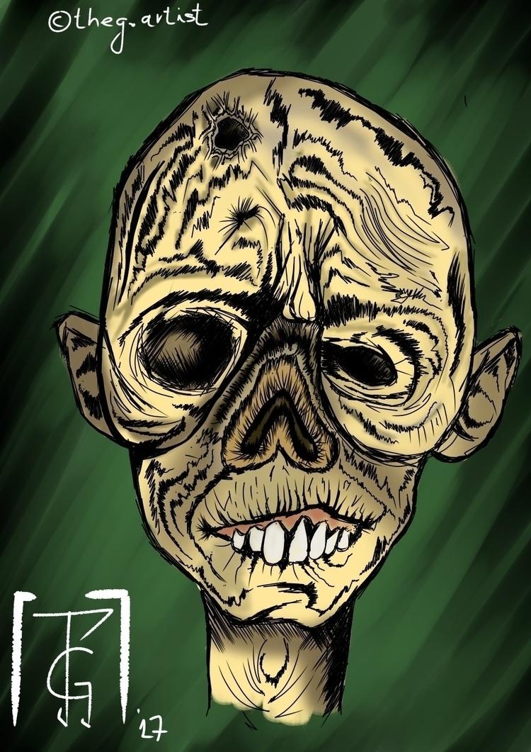 Sketchy MediBang Paint phone  - zombie - datheg | ello