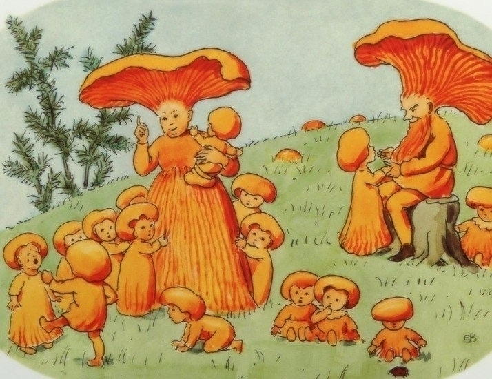 Elsa Beskow - painting, design, fashion - modernism_is_crap | ello