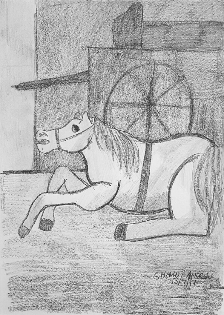 exhausted carriage horse - Lumo - shawnartist | ello