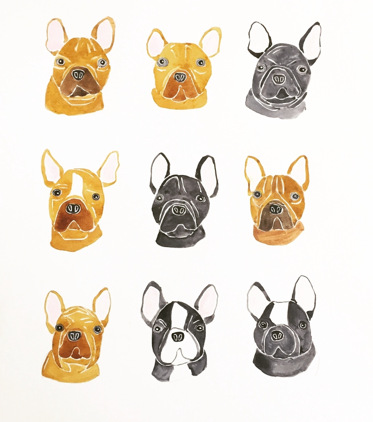 French bulldog - friday, dog, art - igimidraws | ello