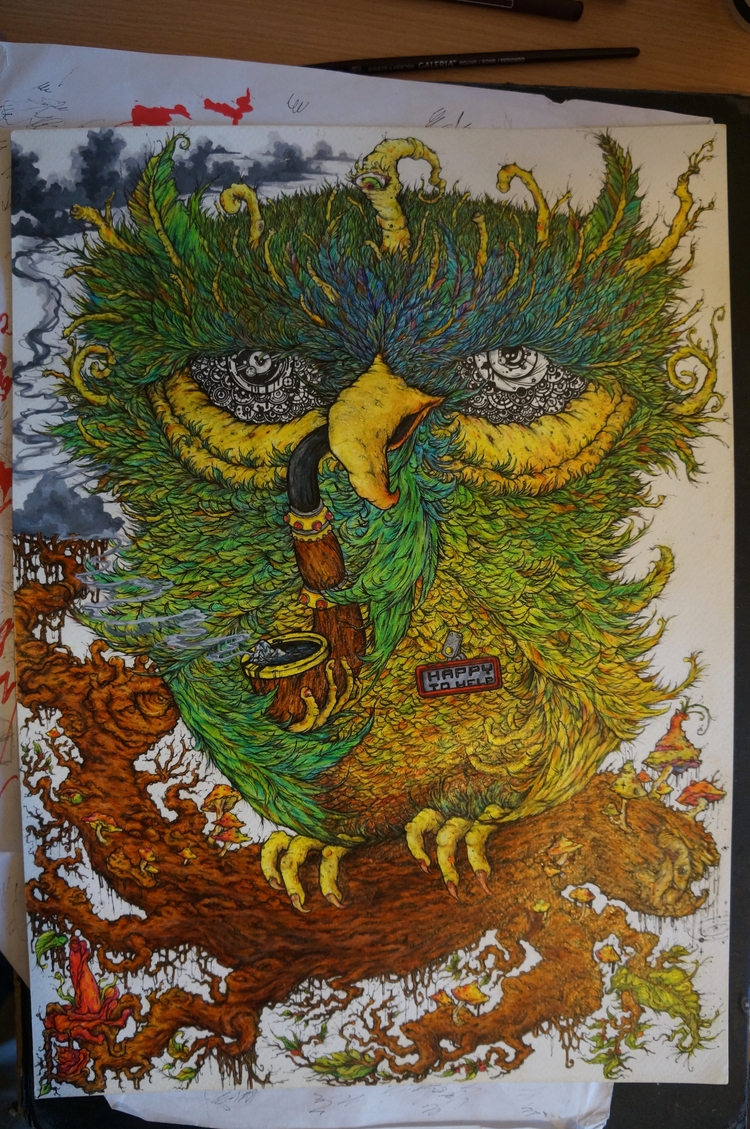 scorch soul watercolour crayon - glenk79   ello