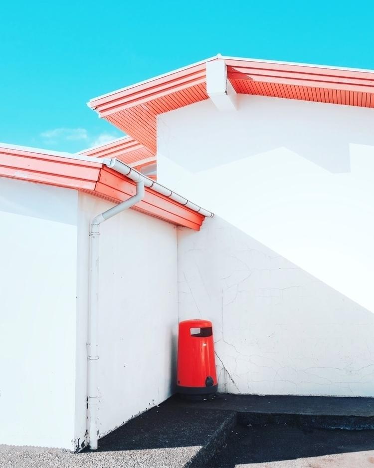 Gas station, Iceland - colorful - codyguilfoyle | ello