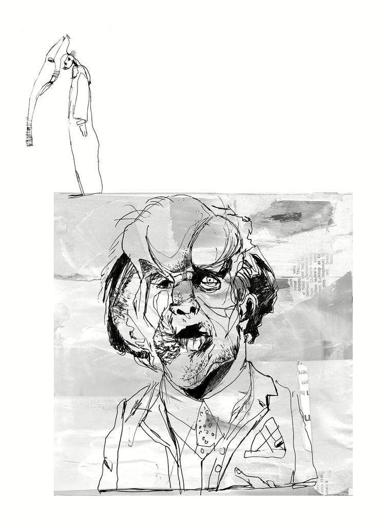 Elephant Man - drawing, collage - lukeman1977 | ello