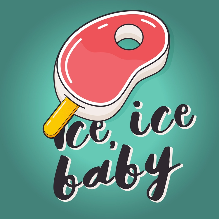 ICE BABY - ice, vector, illustration - iampommes | ello