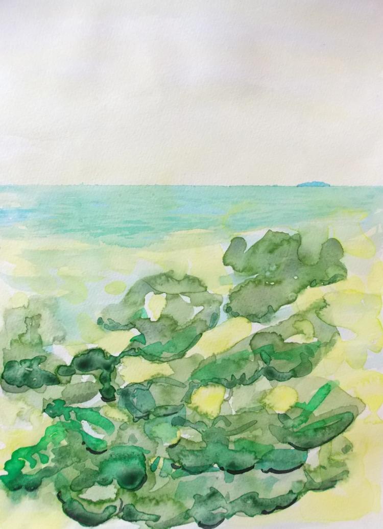 Ocean Turquoise Watercolour - euric   ello