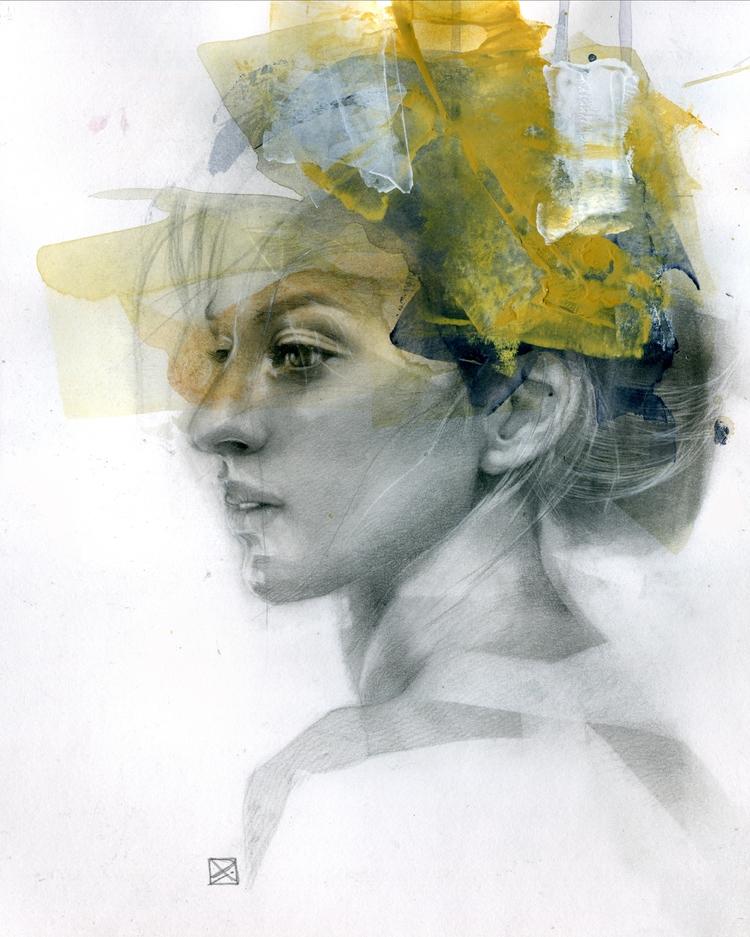 STUDY Acrylic graphite paper 11 - patriciaariel | ello