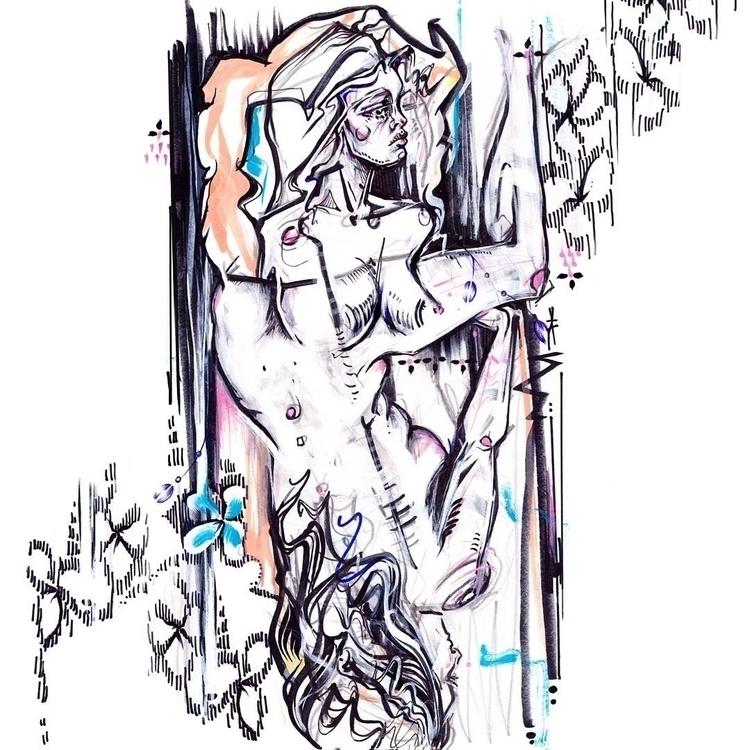 Upsidedown, Sunday Life Drawing - femsorcell | ello