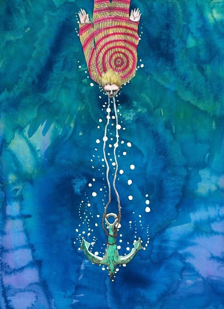 Hope anchor Watercolour - euric | ello