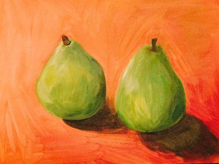 oil painting, 2 pears - helenaugusta | ello