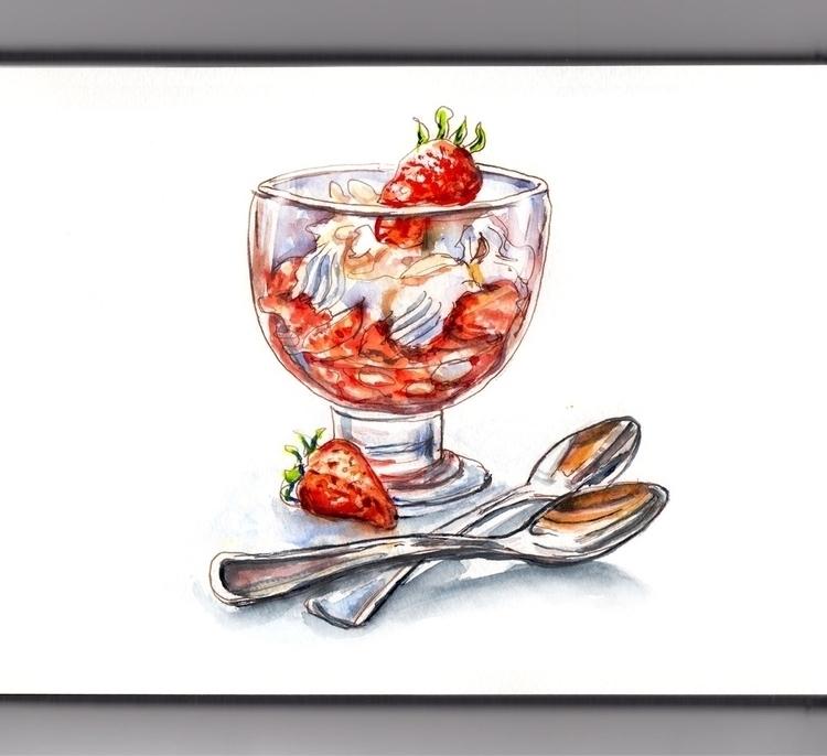 Dinner  - doodlewashclub, WorldWatercolorGroup - doodlewash | ello