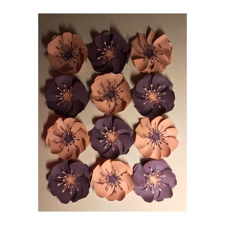 Paper periwinkles burgundy salm - paperbureau | ello