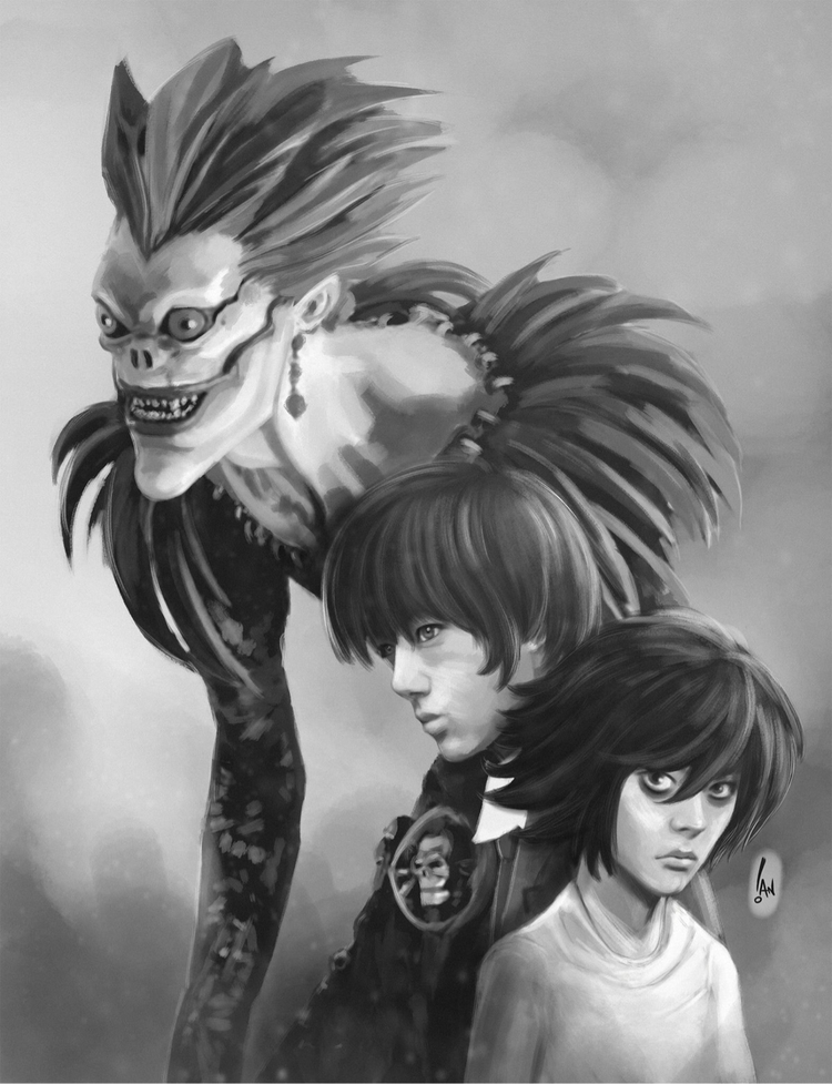Ryuk, Light deathnote - lightyagami - sketchian | ello