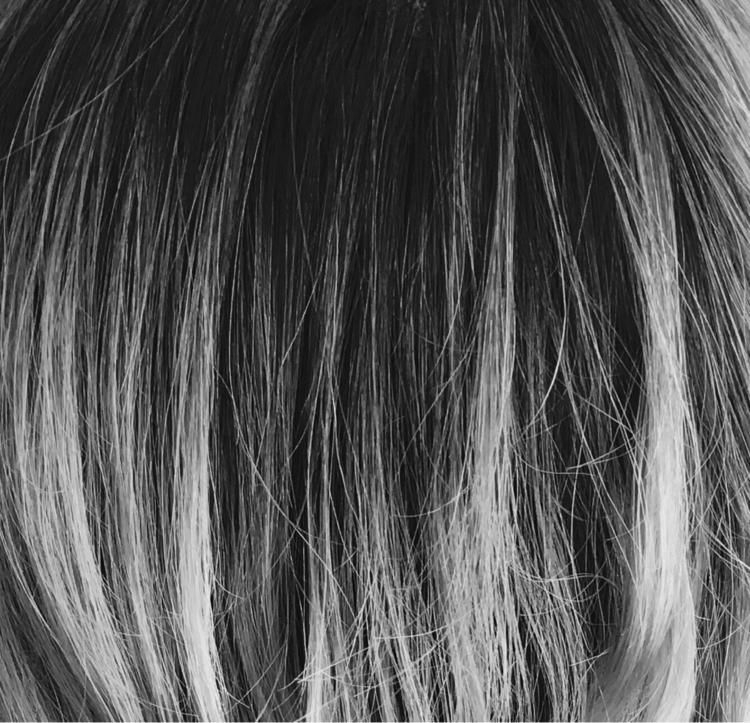 Blend - hair, blend, mono, blackandwhite - ge0rgiaday | ello