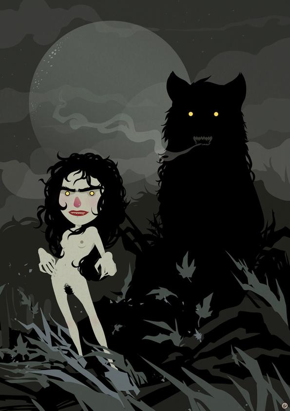 illustration, drawing, werewolf - shugmonkey | ello