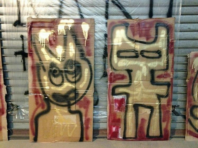 cardboard - painting - anthonycandkarenm | ello