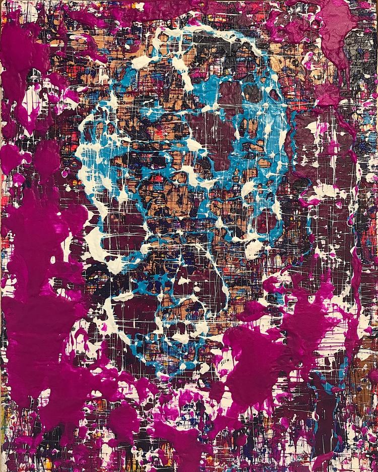 "bluedom 8""x10"" acrylic canvas 2 - nuisms | ello"