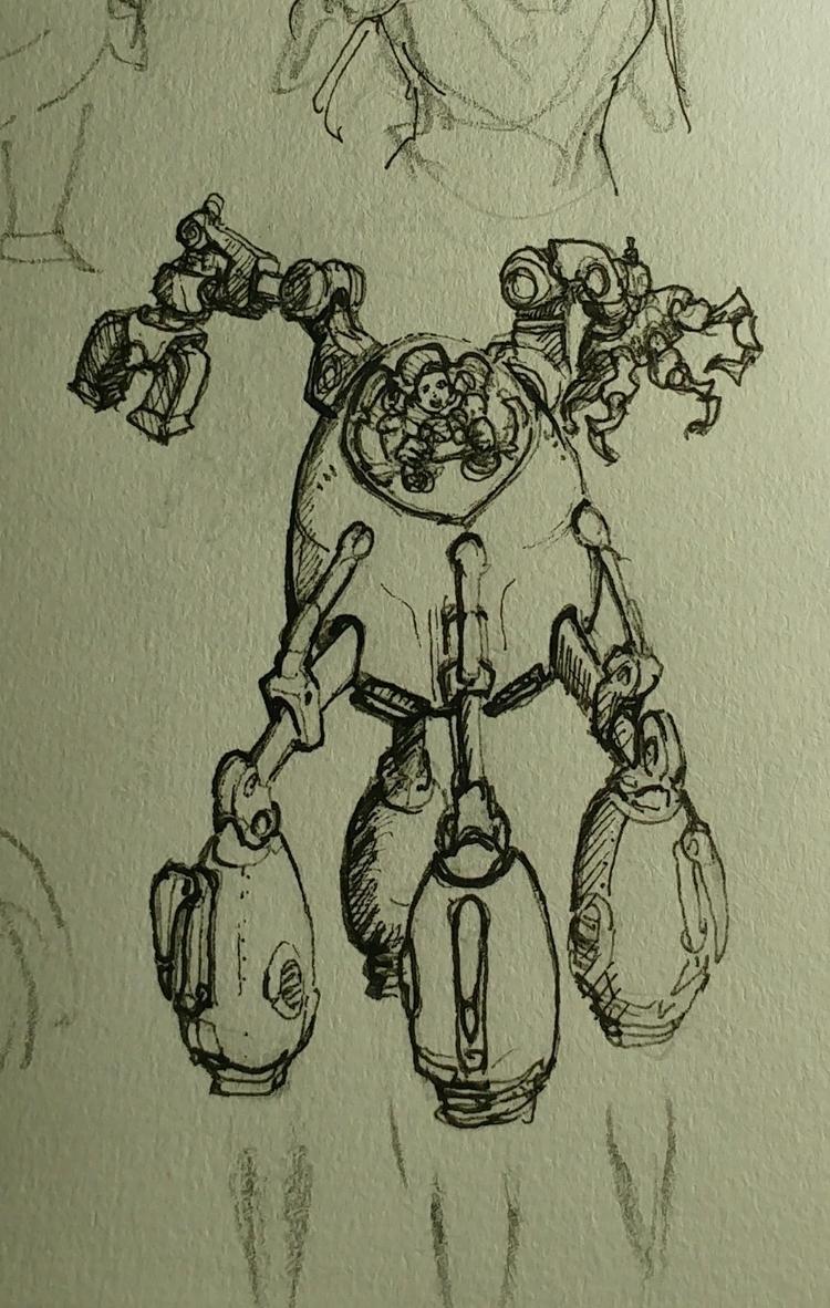 work bot. sketch - damirlesic | ello