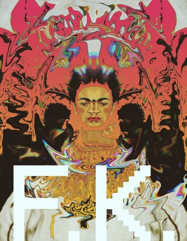 Kahlo - noise, frida, parallel, faced - elvisbenicio | ello