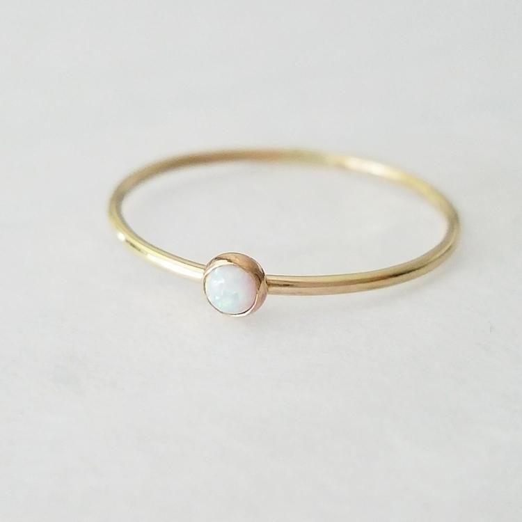 minimalist opal ring 14k gold - autumnequinox | ello