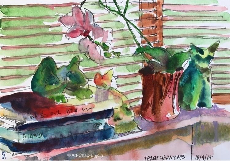 - china cats 500th drawing blog - artchapenjoin   ello
