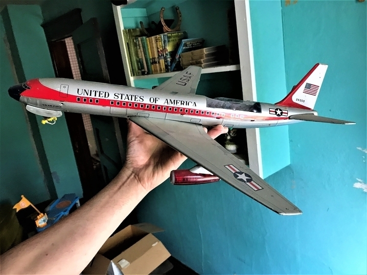 airplane, toy, avion, 1960s, originalphoto#Hatun - hatun | ello