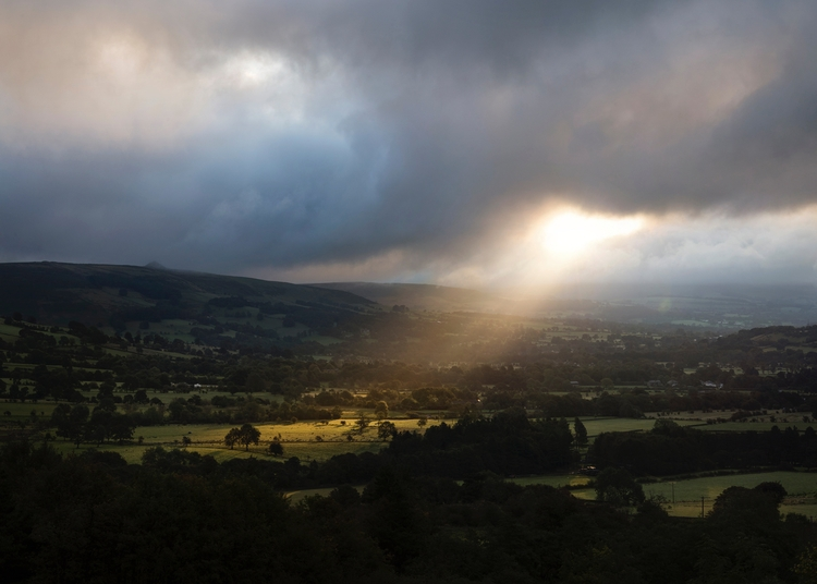 Sunlight pushing heavy clouds,  - andrewbrooks | ello