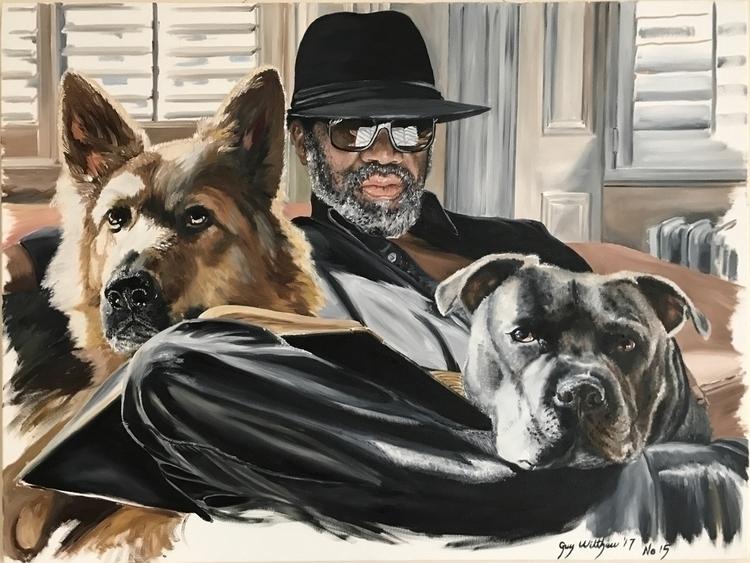 'Dude - Suki Troy' Oils canvas - guywilthew | ello