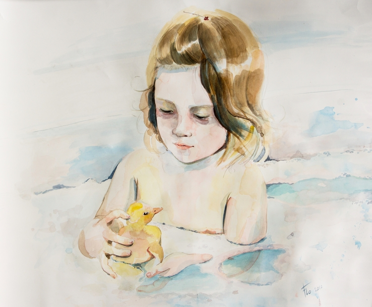 favorite model - girl, watercolor - flolmi | ello