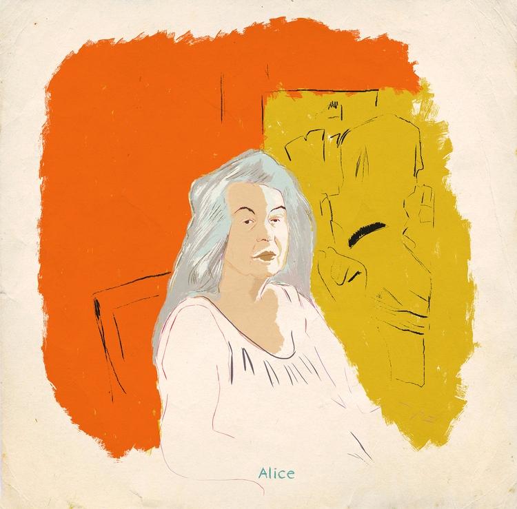 Alice Neel - dessin, illustration - zoe_vadim | ello