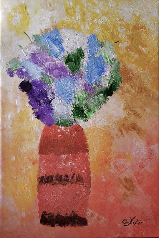 Spring Flowers - acrylic canvas - oanastase | ello
