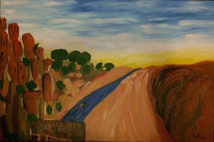 Morocco. Acrylic canvas 35.4x23 - oanastase | ello