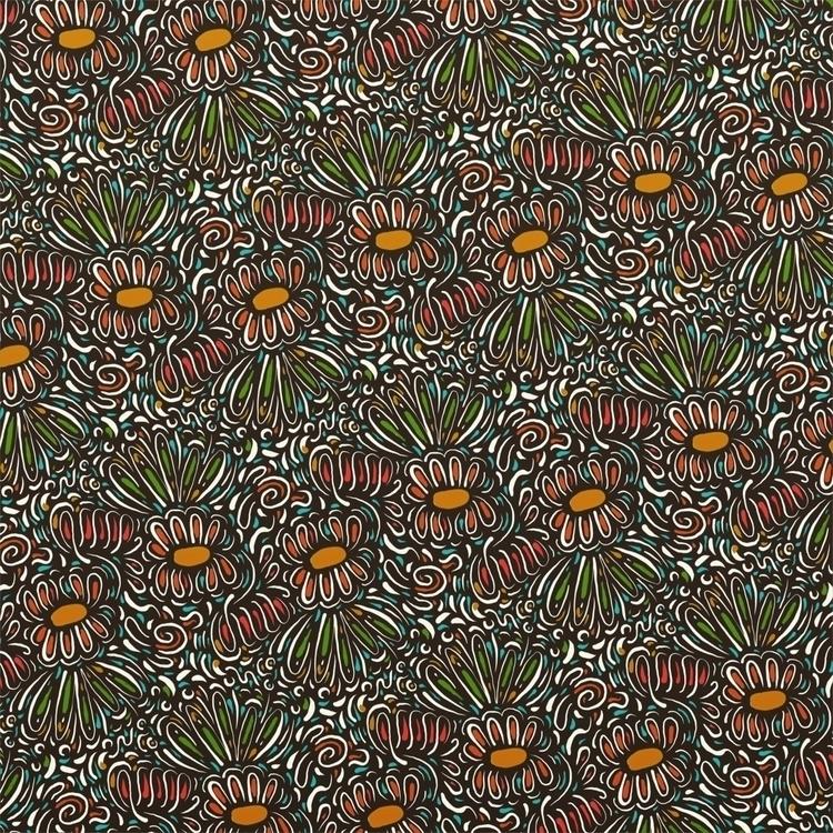 pattern, textile, river, flowers - marginalink   ello