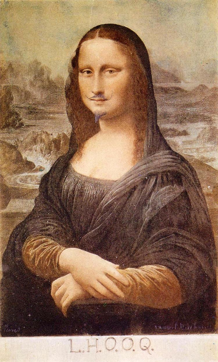 Marcel Duchamp Mona Lisa, 1919  - valosalo | ello