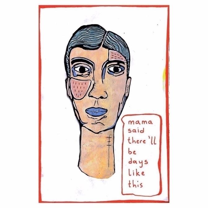 trouble, acrylic paper, 8.27 11 - aybola | ello